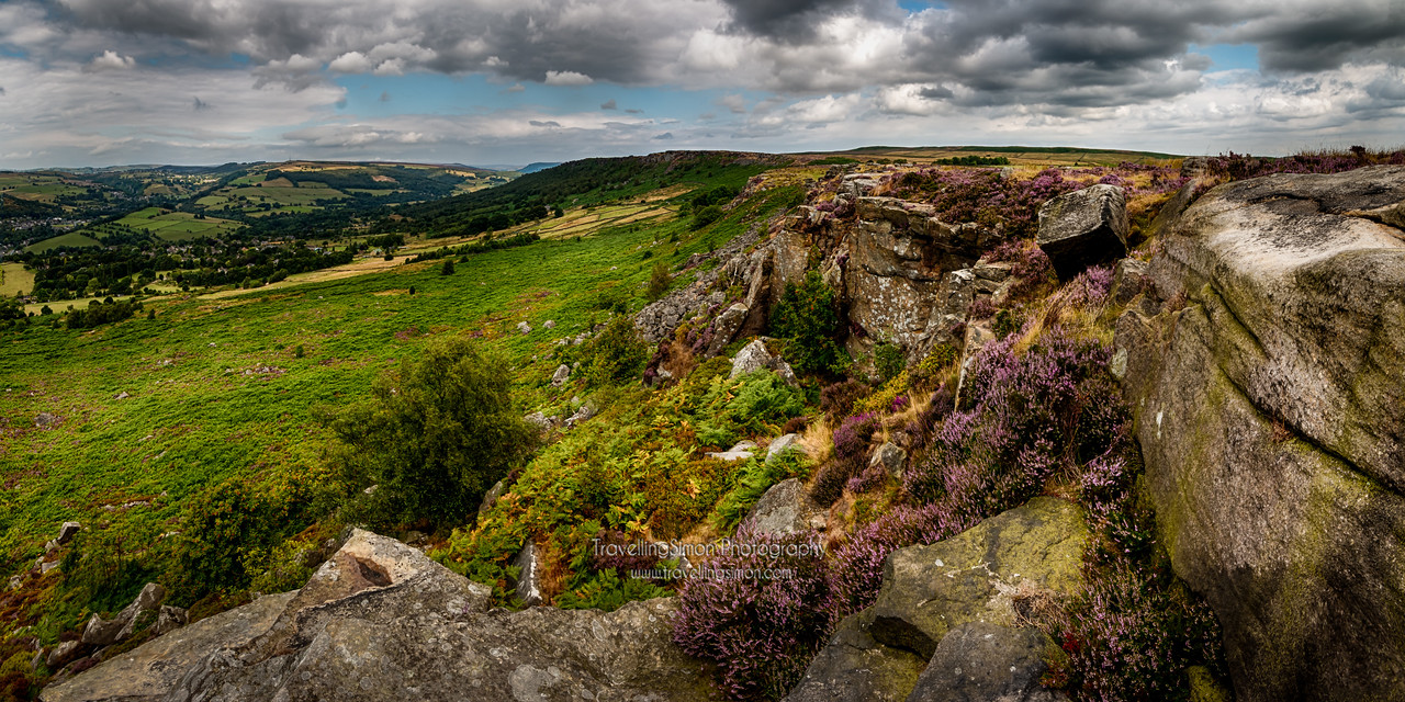 Baslow and Curbar Panorama