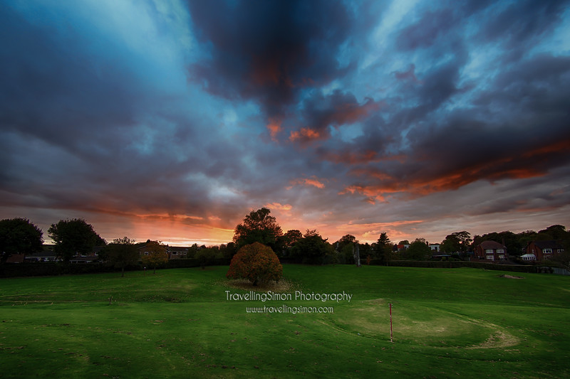 Autumn Sunset in South Park, Macclesfield