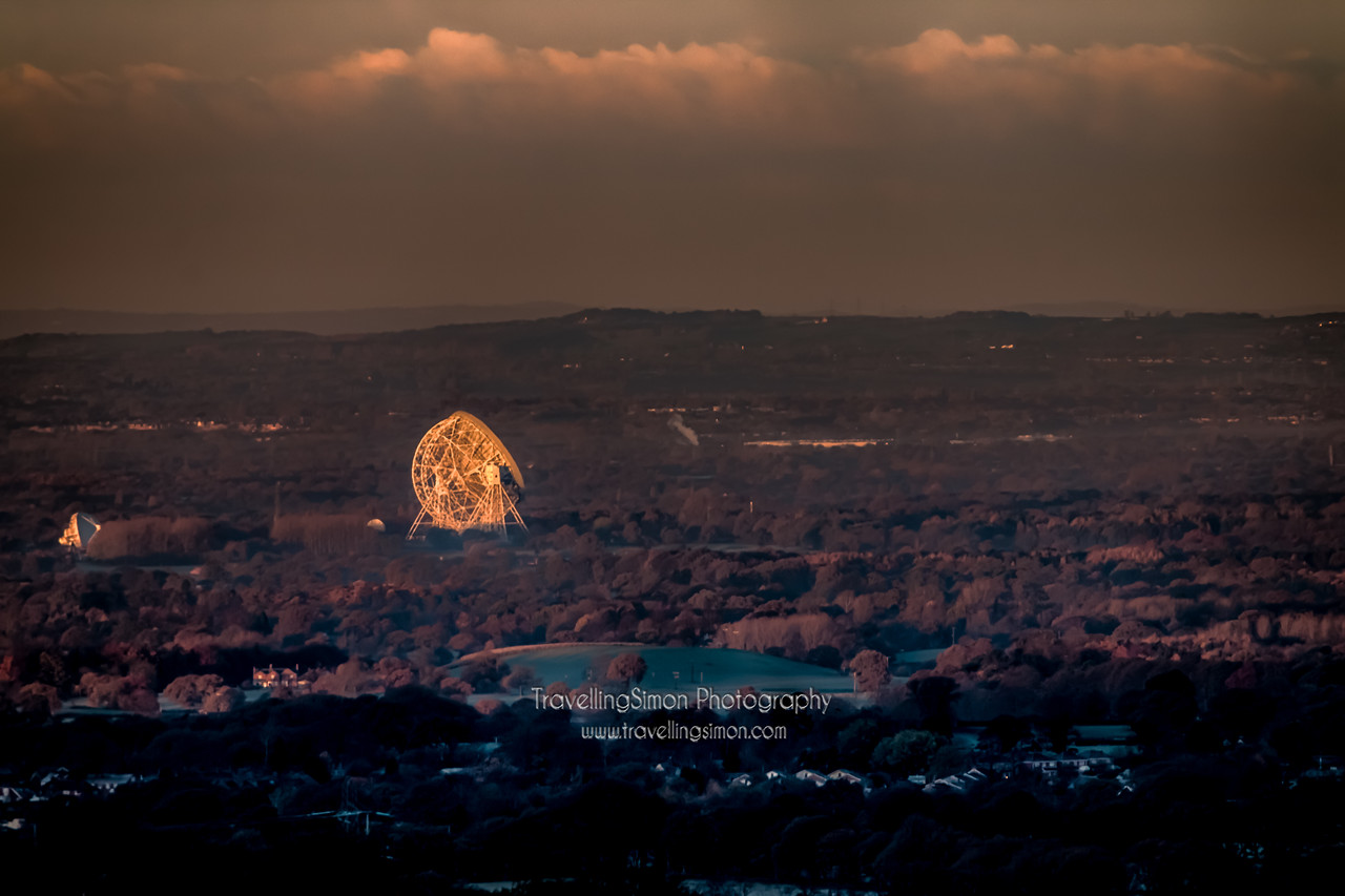 Jodrell Bank Catching the First Rays of Winter Sun