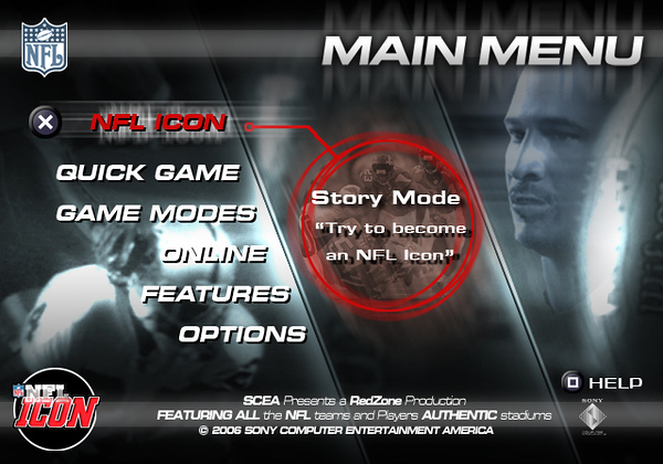 The final menu concept was incorporated by SCEA's NFL and MLB titles.