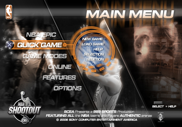 NBA 06 Main Menu