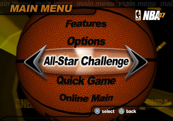 NBA 07 Main Menu Concept 1