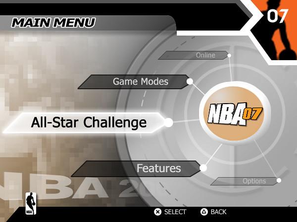 NBA 07 Main Menu Concept 2