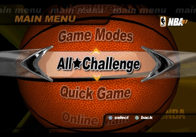 NBA 07 Main Menu Concept 1 Rough Demo