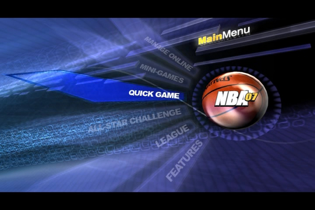 PS3 NBA 07 Main Menu