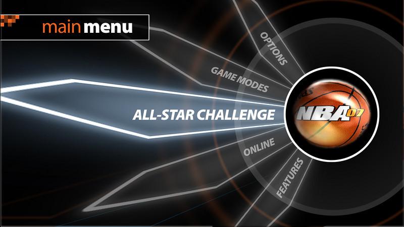 NBA 07 Main Menu Concept 3
