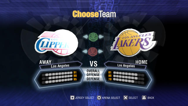 Final concept Team Select screen.