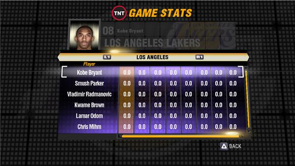 Final concept stat screen.