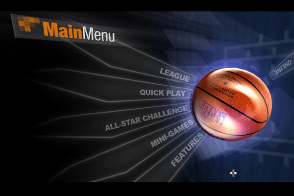 NBA 07 Main Menu Concept 3 demo.