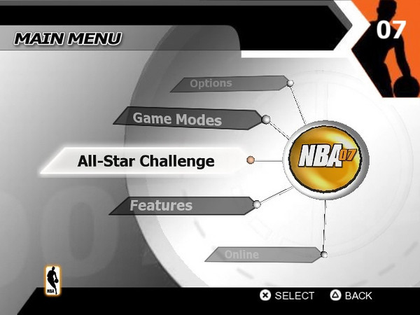 NBA 07 Main Menu Concept 2 Rough Demo