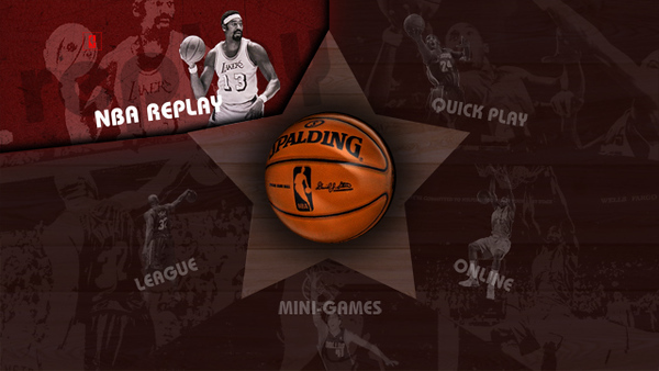 Concept 2. Introduction of a more retro style with an inherent basketball feel. This concept was approved for the final look and feel for the NBA 08 UI.