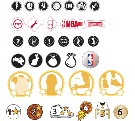 Icons used throughout NBA 09.