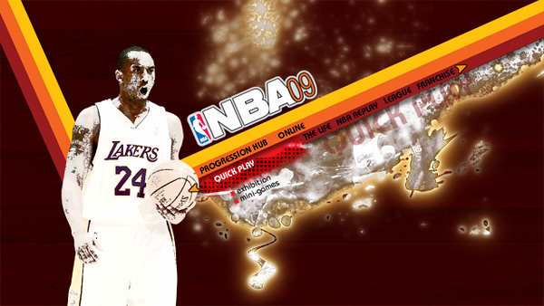 Menu Concept 1. Working with the retro style introduced in NBA 08.