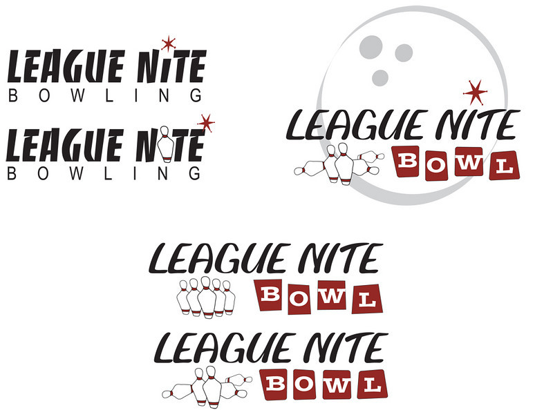 Logo and name concepts for what would eventually be High Velocity Bowling.