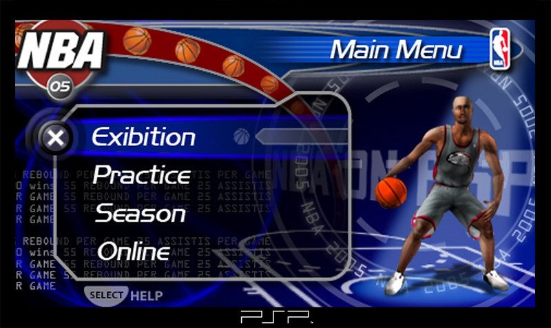 Main Menu Final- NBA game logo is concept. Final logo provided by marketing can be seen on the All-Star Voting screen.