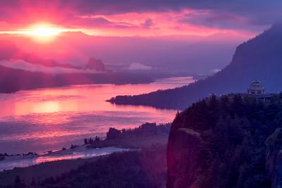 Sunrise over the Columbia River Gorge