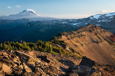 Long views towards Mt. Adams, Goat Rocks Wilderness, Washington