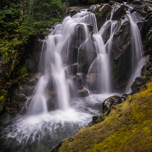 Ruby Falls in Mount Rainier National Park Washington