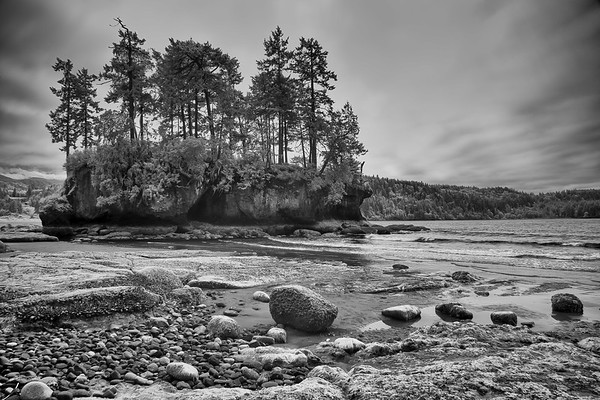 Black and white image of Tongue Point Salt Creek Recreation Area