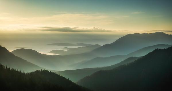 Sunrise at Hurricane Ridge in Olympic National Park in Washington