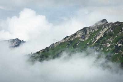Peaks in the clouds, Glacier Peak Wilderness, Washington