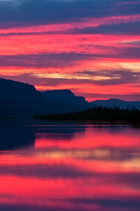 Sunrise at Rooster Rock in Oregon's Columbia River Gorge