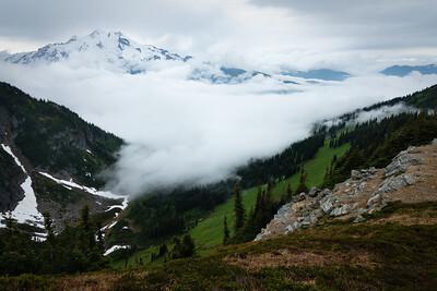 Pacific moisture surges towards the Cascade crest, Glacier Peak Wilderness, Washington