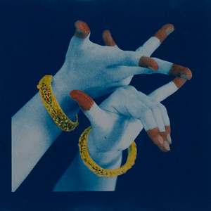 Hand-painted cyanotype on paper (approx. 8.5in x 8.5in)