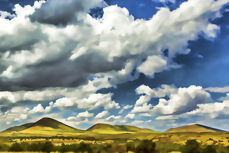 Rolling Hills Watercolor