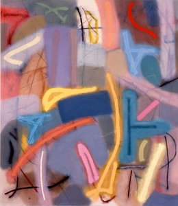 Mad Key 1984, Oil on Canvas, 90X78 inches