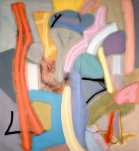 Crack Back 1987, Oil on Canvas, 84X78 inches