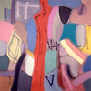 Hot Tracks 1988, Oil on Canvas, 78X78 inches