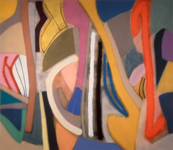 Twisted Affair 1989, Oil on Canvas, 78X90 inches
