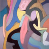 Peachy Manners 1988, Oil on Canvas, 78X78 inches