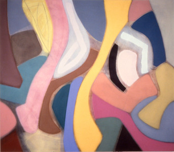 Sweet an Fast 1990, Oil on Canvas, 78X90 inches