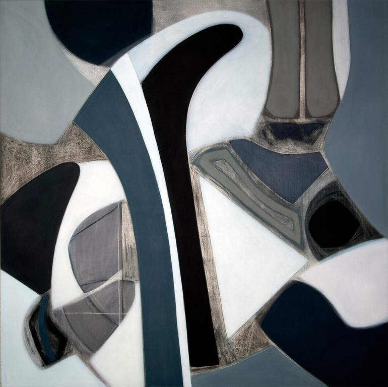 Silver Lake 1991, Oil on Canvas, 78X78 inches