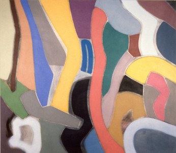 Sepulveda 1990, Oil on Canvas, 78X90 inches