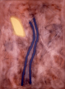 Jerusalem Ridge 1994, Oil on Canvas, 90X66 inches