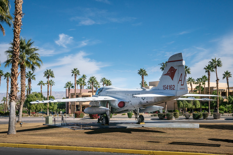 Grumman A-6E Intruder on display in front of the Palm Springs Air Museum