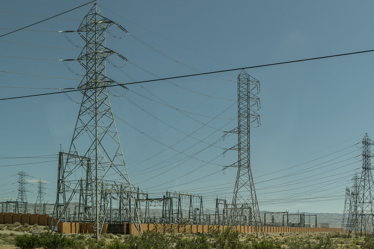 Devers Substation in the San Gorgonio Pass