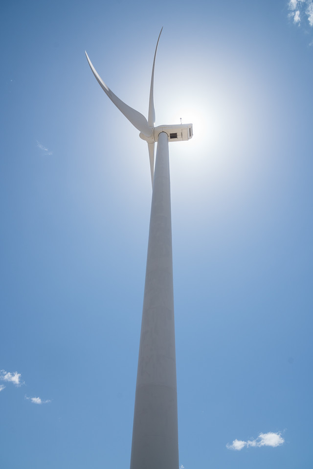 Largest windmill in the pass at high noon