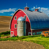Painted Barn Outside Colfax