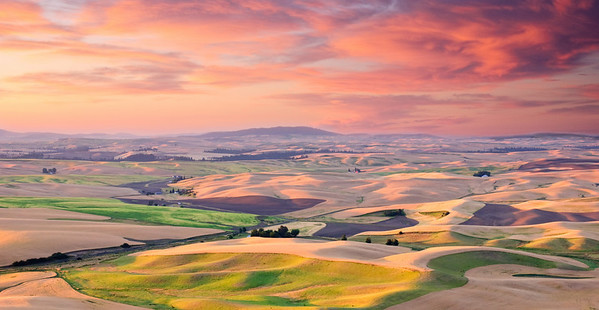 Sunrise over the Palouse