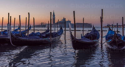 Gondolas and St. George'S Island, Venice