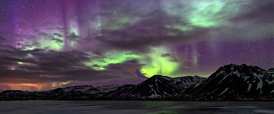 "Langaholt""s Northern Lights, Iceland"