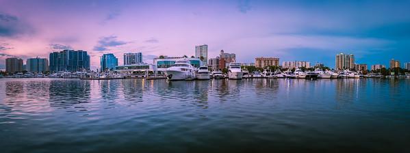 Panorama of the Sarasota Waterfront
