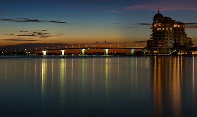 Lights Reflecting in Sarasota Bay