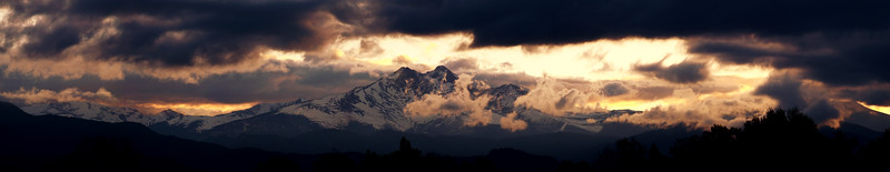 Longs Peak after a Spring storm.   -- Please contact me directly for panorama prints --