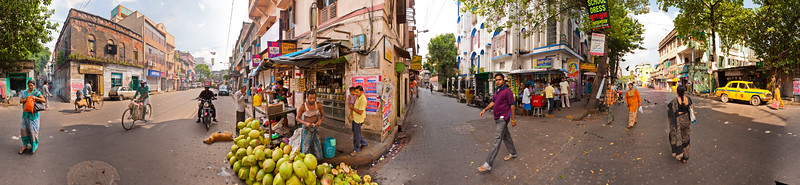 Kolkata Street Corner - Bagbazar Street and Brindaban Pal Lane
