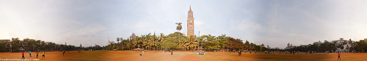 Cricket and hanging out at the Oval Maidan in Mumbai